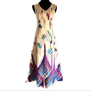 Gorgeous vintage 60's cubist Maxi dress